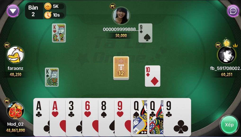 chơi phỏm online game bài top88