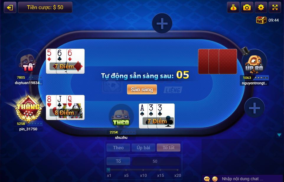 mẹo chơi liêng online game bài top88